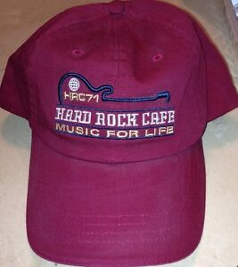 Hard-Rock-Cafe-SAN-FRANCISCO-Baseball-HAT-CAP-Wine-Red-034-MUSIC-FOR-LIFE-034-HRC-71