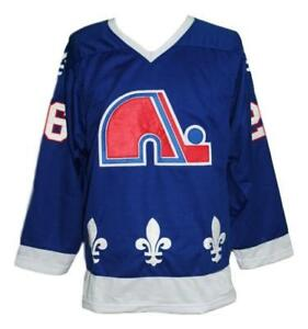 Any Name Number Size Quebec Nordiques Retro Custom Hockey Jersey Blue Stastny