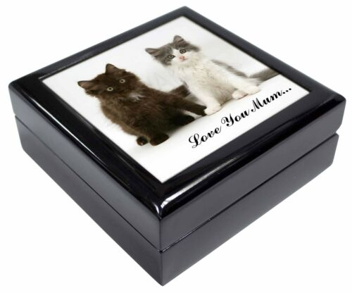 Cute Kittens 'Love You Mum' KeepsakeJewellery Box Christmas Gift, AC121lymJB