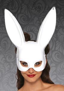 Bunny Rabbit White Rabbit Face Mask Masquerade Parties Halloween Leg Avenue