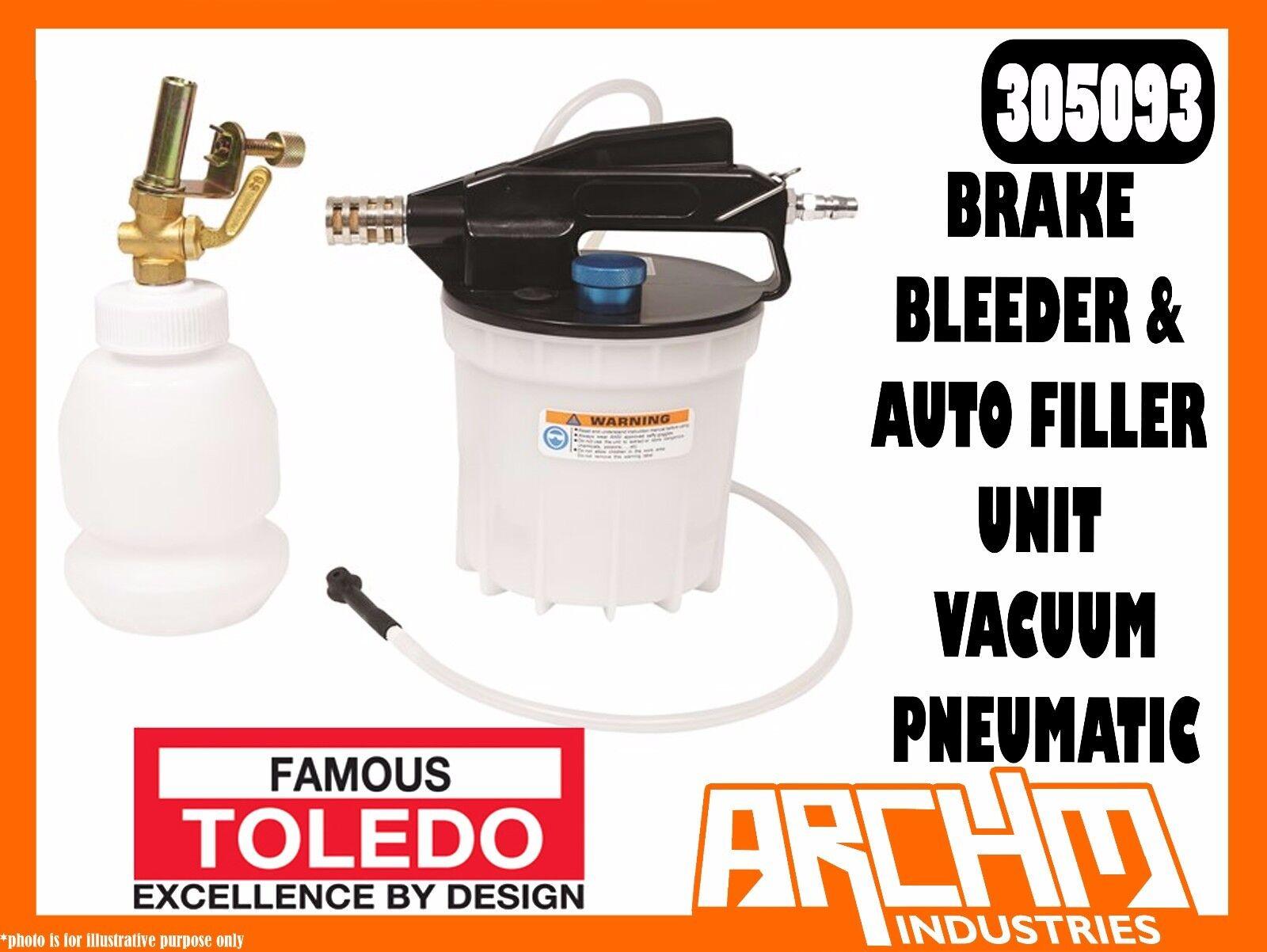 TOLEDO 305093 - BRAKE BLEEDER & AUTO FILLER UNIT VACUUM - PNEUMATIC - CLUTCH
