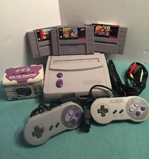 Super Nintendo SNES Mini Slim Game Console SNS-101 Complete Bundle with games