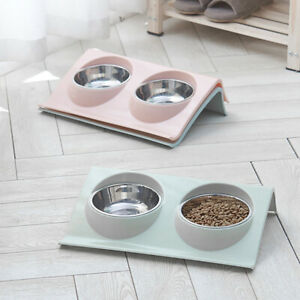 Cat-Stainless-Steel-Puppy-Feeder-Double-Feeding-Bowls-Pet-Bowl-Water-Food-Dish