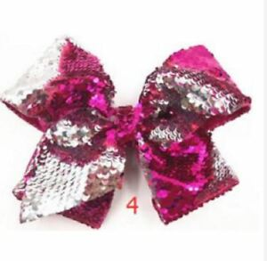 Details about Jojo Siwa 8 Inch Bead Scales Hair Bow Clip Hairpin - DARK PINK