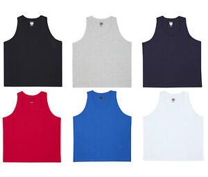 Pierre-Roche-Mens-Adults-Plain-Cotton-Plus-Size-Vest-Top