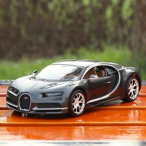 Image Is Loading Maisto Bugatti Chiron 1 24Scale Collectible Black Diecast
