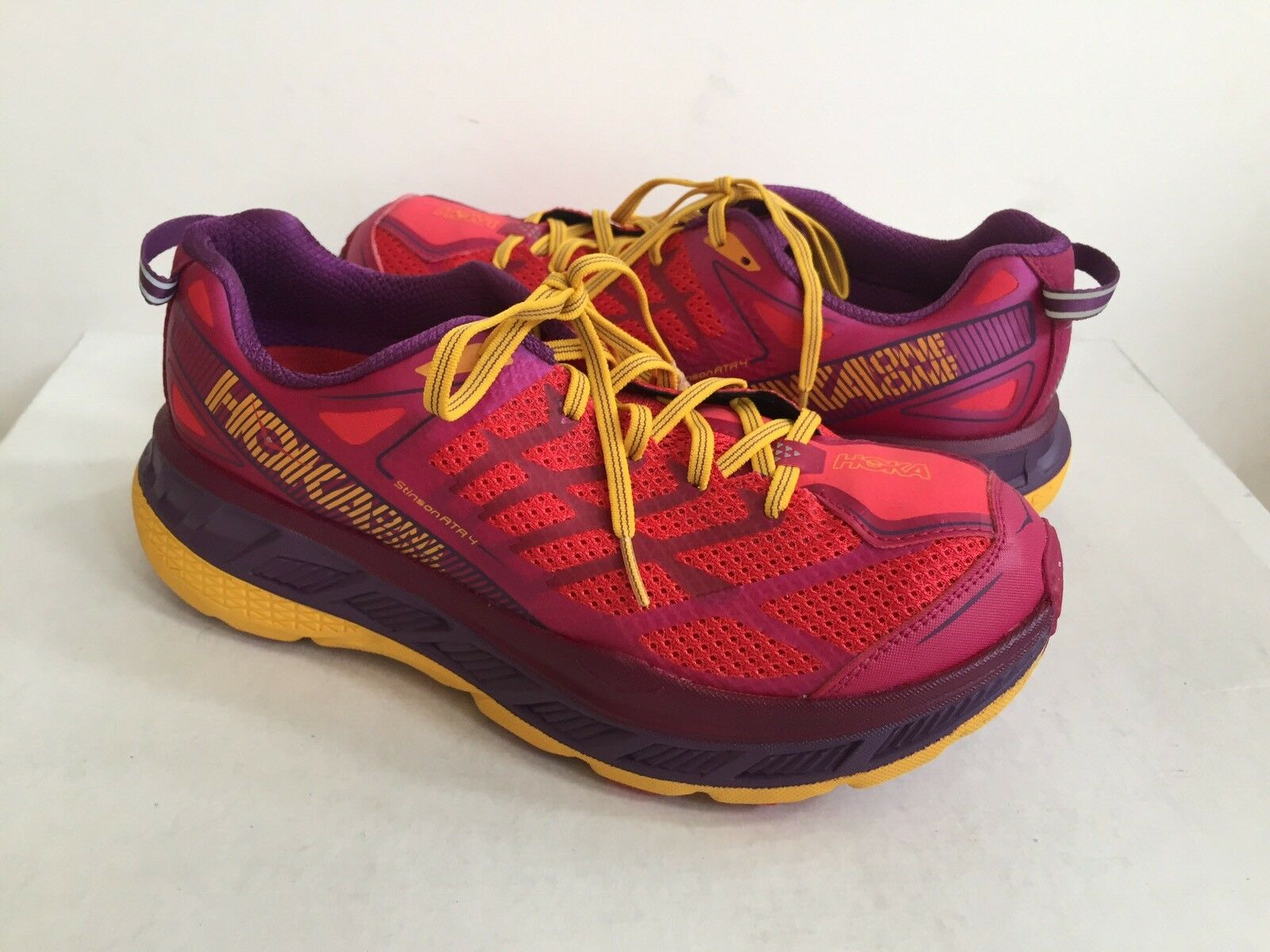 HOKA ONE ONE WOMEN STINSON US ATR 4 CHERRIES JUBILEE/PURPLE US STINSON 7 /EU 38 2/3 /UK 5.5 98518e