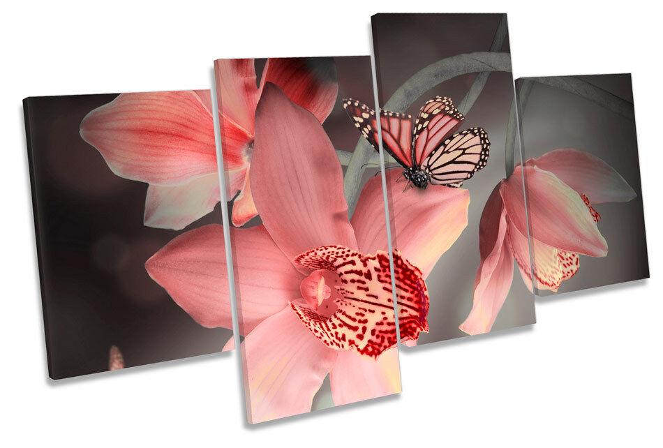 Orquídeas Floral Flor Mariposa Multi Multi Mariposa tela pa rojo  arte de imprimir imágenes c02693