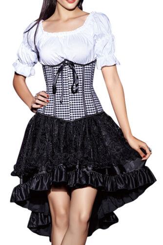 Rock mini Kleid Wäschebeutel Corsagenkleid Unter Brust Taillen Corsage