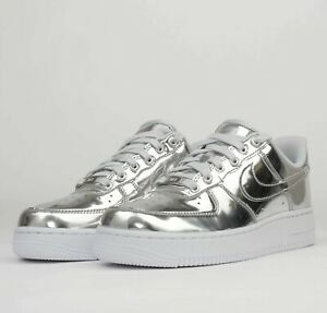Details about Nike WMNS Air Force 1 SP Metallic Silver CQ6566-001 AF1 W  Shoes Womens Sneakers