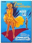 """MARILYN MONROE 7 year Itch Movie poster CANVAS ART PRINT 16""""X 12"""""""