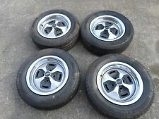FIAT 124 SPIDER NICE LOOKING WHEEL SET WITH HUBCAPS