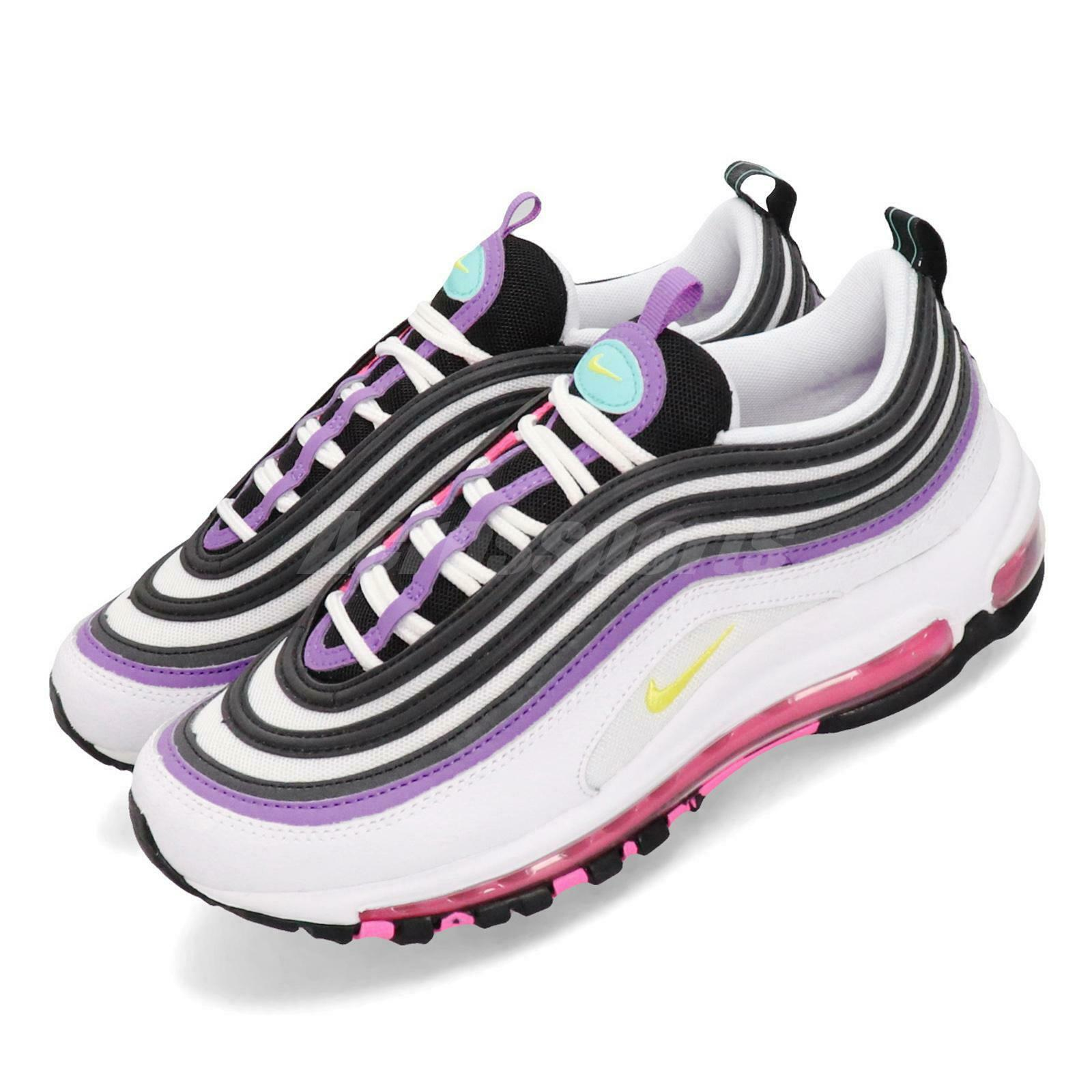 Nike  Wmns Air Max 97 White Purple Pink Yellow Women Running shoes 921733-106  wholesale
