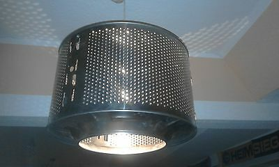 !!! Design Deckenlampe Waschmaschine Edelstahl - Lesen!!!