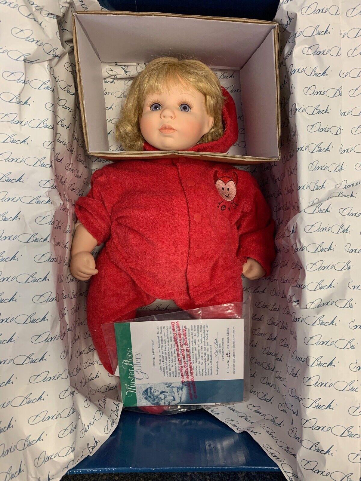 Diane Bucki muñeca de porcelana 44 cm. con caja. top estado