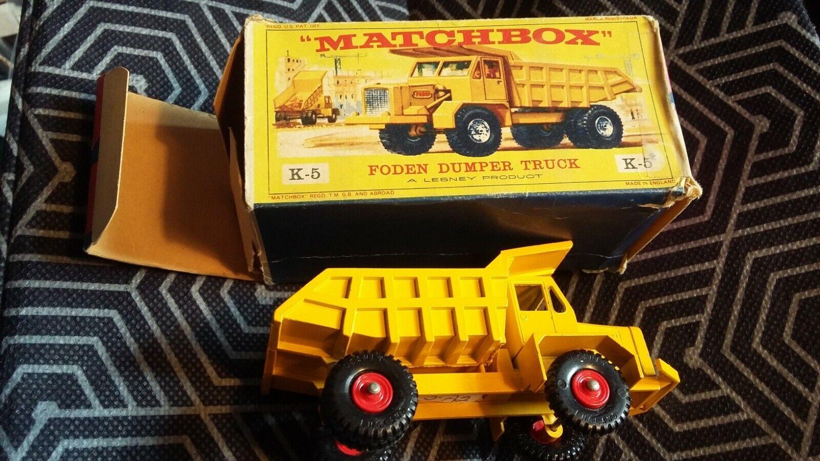 Matchbox Lesney, K5, Foden Volquete Camión, MIB,