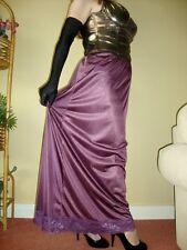 Aubergine / Grape Silky & Lacy Long Formal Length Half Slip Petticoat XL BNWT