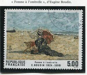 TIMBRE FRANCE OBLITERE N° 2474 TABLEAU EUGENE BOUDIN / Photo non contractuelle