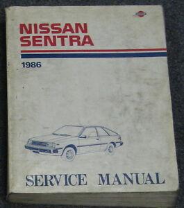 1986 nissan sentra service repair manual model b11 series ebay rh ebay com Nissan B15 Nissan B15