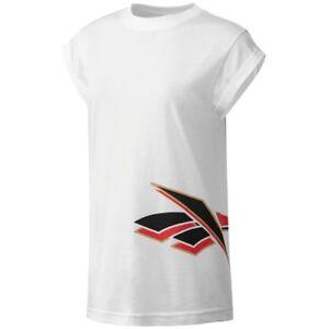 Reebok-Classics-Women-039-s-Vintage-Graphic-T-Shirt-White-BS3663