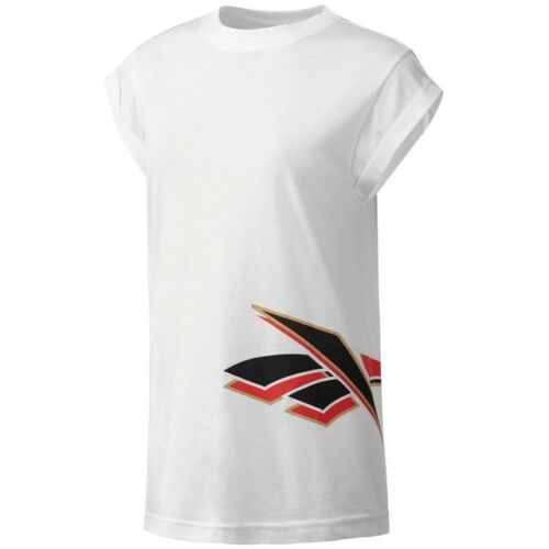 Reebok Classics Women/'s Vintage Graphic T-Shirt White BS3663