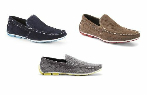 NIB Uomo Kenneth Cole Traffic Light Perforated Loafer Slip On Boat Driving Shoes