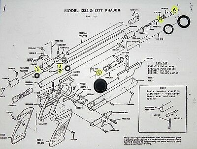TUNE-UP REBUILD RESEAL O-RINGS SEAL KIT for Crosman 2240 1740 2250 2300 CO2 Guns