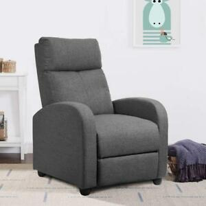 Super Details About Modern Home Theater Single Recliner Sofa Seat Furniture Thick Cushion Chair Grey Dailytribune Chair Design For Home Dailytribuneorg