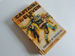 Hardcover-Book-Vintage-Captain-of-the-Eleven-Harold-M-Sherman