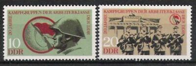 Briefmarken Ddr Nr.1874/75 ** 20 Jahre Kampfgruppen 1973,postfrisch Auf Der Ganzen Welt Verteilt Werden