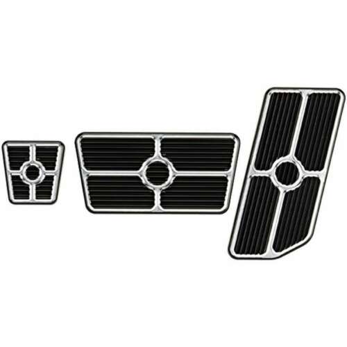 BILLET SPECIALTIES 198625 Universal Pedal Kits Grooved Black
