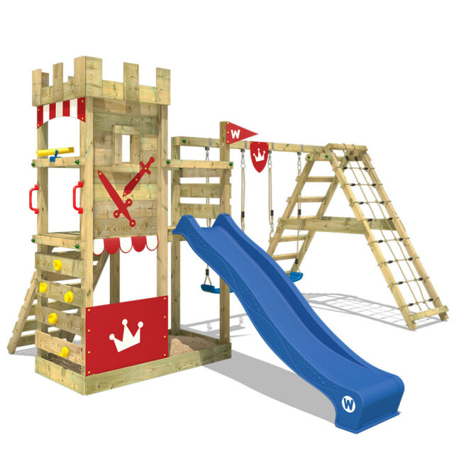 Wickey Smart Crown Climbing Frame Kids Garden Playground Slide Swing ...