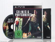 SHERLOCK HOLMES - CRIMES & PUNISHMENTS ~Playstation 3 Spiel~+