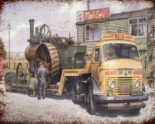 COMMER LORRY STEAM ENGINE TRACTOR NOSTALGIC TRANSPORT METAL PLAQUE TIN SIGN 008