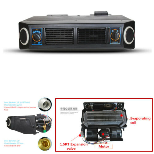 Universal 1X 12V Underdash Evaporator Compressor Air Conditioner 3 Speed For Car