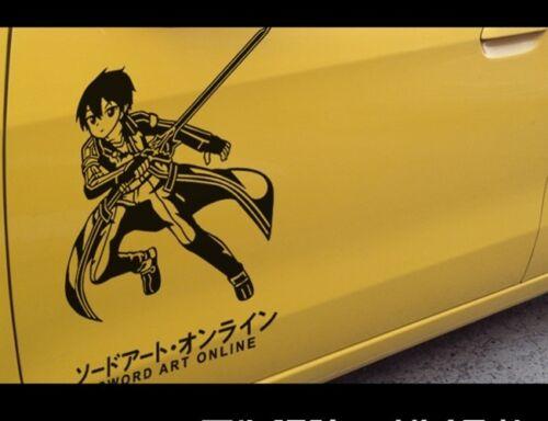 Car Truck Decals Stickers Sword Art Online Kirigaya Kazuto Car Sticker Vinyl Decal Hot Anime 35cm Motors