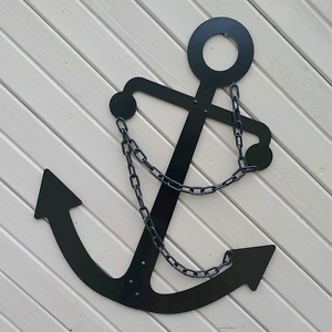 Image Is Loading Black Admiralty Fisherman Anchor Wall Decor 36 034