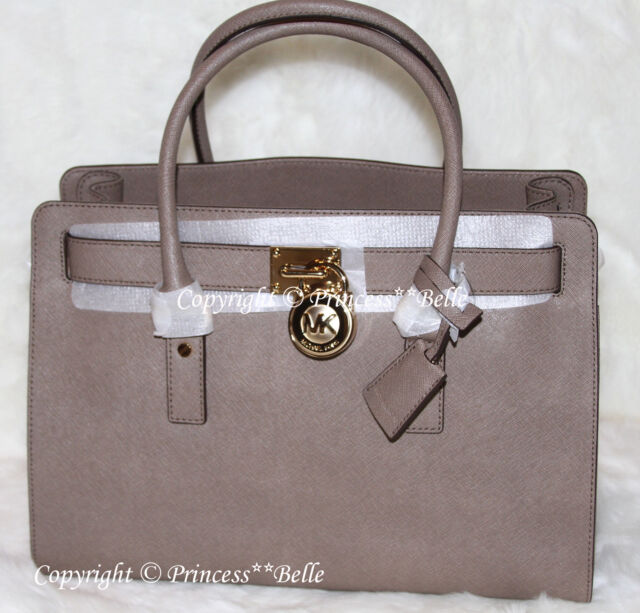 10a67e925bbbd2 NWT MICHAEL KORS Hamilton EW LARGE Satchel Tote Bag Purse Handbag Dark Dune  $358