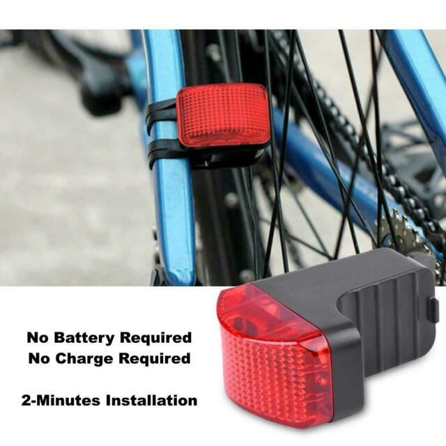 Magnetic Induction Powered Bicycle Bike Taillight Cycling Rear Light Safety Lamp