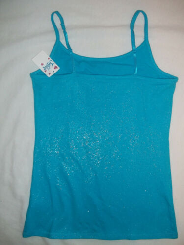 NEW JUSTICE GIRLS SIZE 10 12 ALLOVER FOIL//GLITTER CAMISOLE W//SPARKLES