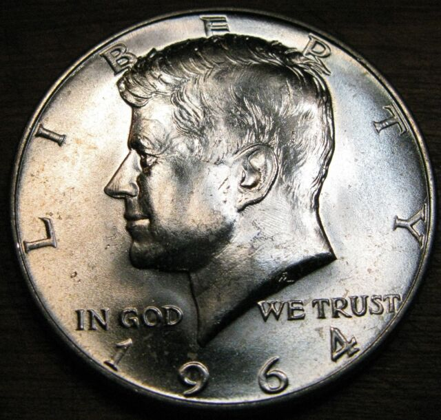 1964 Kennedy Half Dollar 90/% Silver US Mint Coin Uncirculated Free Shipping