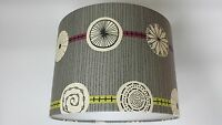 Atomic-sanderson 50s Collection Wallpaper Lampshade ,.(grey/lime).
