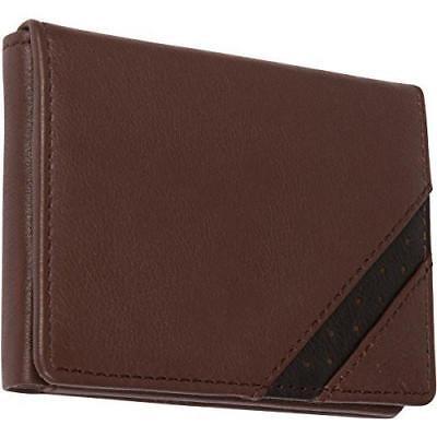 Genuine Leather Mens Bifold Wallets Slim Dual Tone With ID Window RFID Blocking