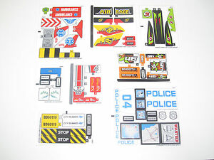 Lego-Planche-Stickers-Autocollants-Decorations-City-Choose-Model-NEW
