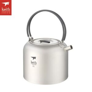 Keith-Titanium-1-5L-Kettle-Camping-Picnic-Cookware-Coffee-Tea-Water-Pot