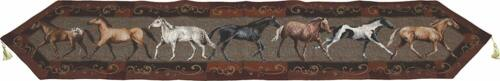"""Table Runner Horses Western Decor Kitchen Home Animals 71 x 13/"""" Gift Cabin"""