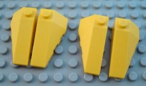 New LEGO Lot of 2 Pair of Black 4x2 Wedge Plate Pieces from 79109 6864
