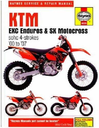 HAYNES SERVICE MANUAL KTM 400 EXC 250 EXC 2002-2006 520 EXC /& 525 EXC 2000-07