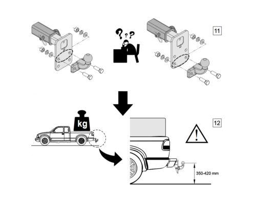 Anhängerkupplung Anhängevorrichtung USA Adapter AH5 US-Fahrzeuge Kugelkopf 51x51