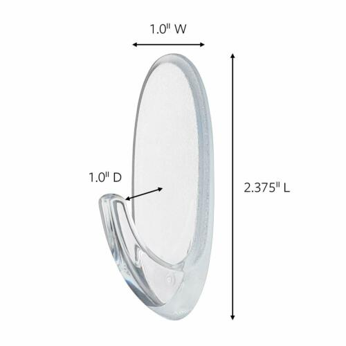 17092CLR-ES Indoor Use Command 1 lb Capacity Oval Hooks Small